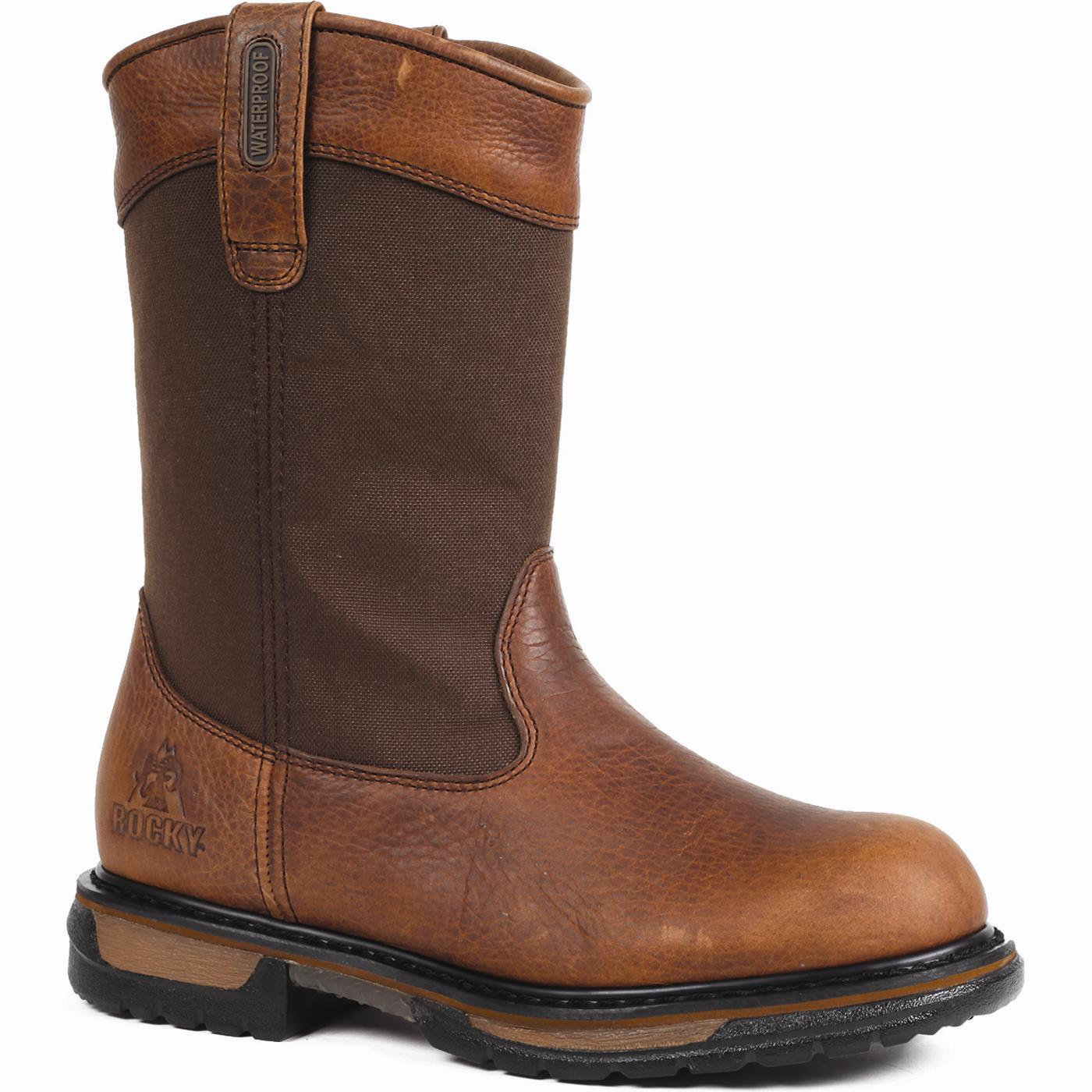 steel toe snake boots