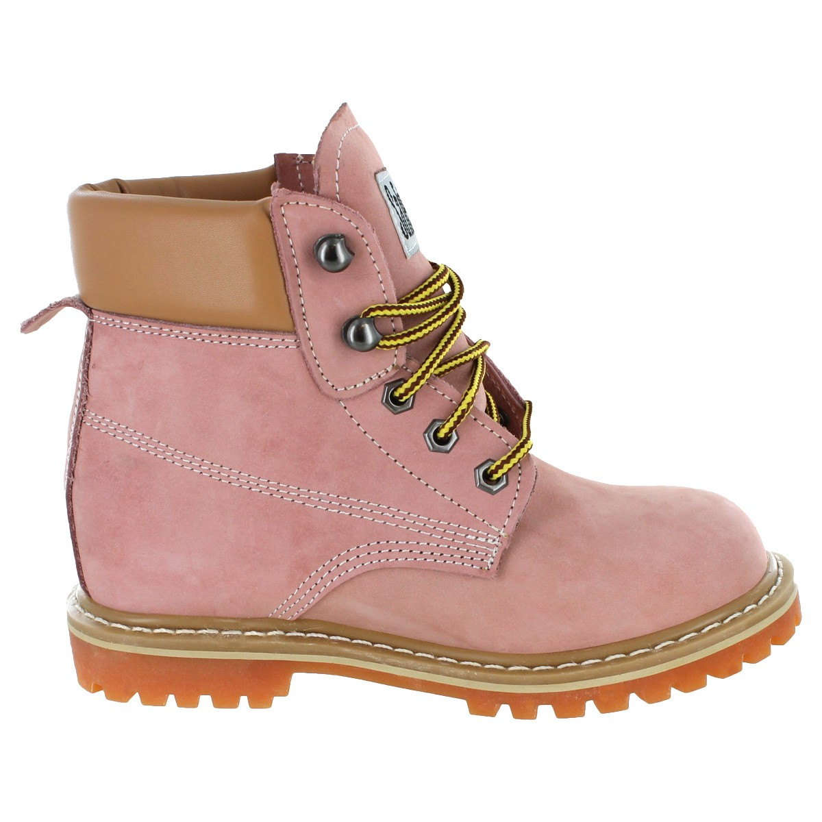 Luxury SafetyGirl Steel Toe Waterproof Womens Work Boots Light Pink Shoes