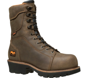 steel toe logger boots
