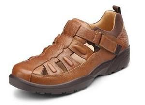 Dr. Comfort Mens FISHERMAN Chestnut Diabetic Sandal