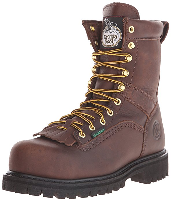 "Georgia Boot Men's Georgia 8"" Lace-to-toe Steel Toe Work Boot Work Shoe"